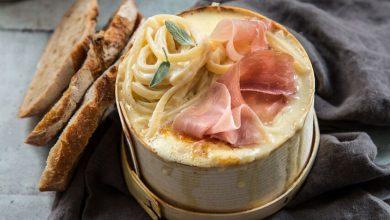Photo de Spaghetti au Mont d'Or et jambon cru Aoste