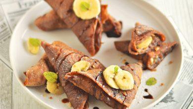 Photo de Crêpes samossas bananes et chocolat