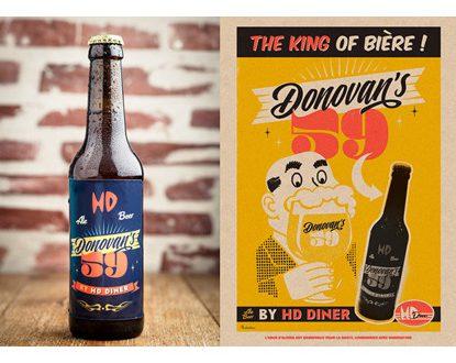 """""""Donovan's 59"""" Une bière artisanale de caractère signée HD Diner"""