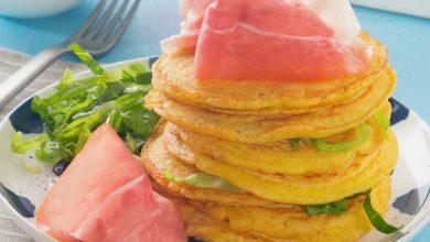 Photo de Mini pancakes de thym au jambon de Parme