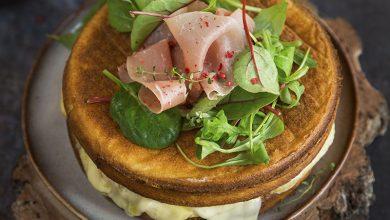 Photo de Naked Cake à la raclette et au jambon cru Aoste