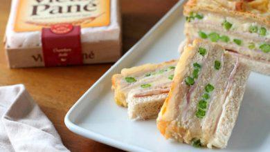 Photo de Croque-cake au jambon et au fromage