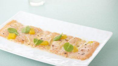 Photo de Carpaccio de saumon de Norvège aux fruits de la passion