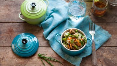 Photo de Risotto aux légumes primeurs et moules à l'escabèche