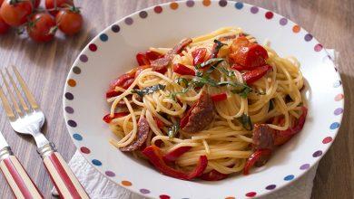Photo de One pot pasta au chorizo et poivrons