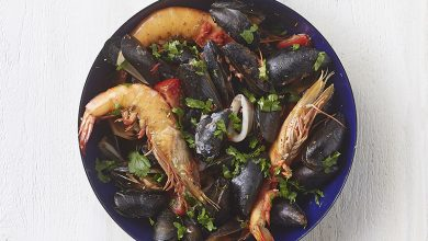 Photo de La plancha de moules aux fruits de mer