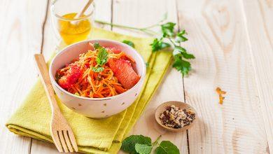 Photo de Salade de carottes râpées aux agrumes et noisettes