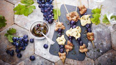 Photo de Brochettes d'aiguillettes de canard et de poulet au Muscat du Ventoux AOP