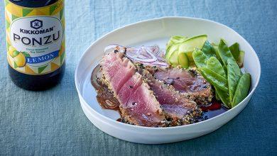 Photo de Steaks de thon grillés avec des graines de sésame