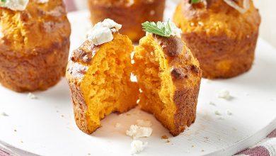 Photo de Muffins aux tomates, oignons caramélisés et féta