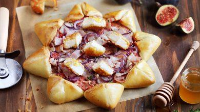 Photo de Pizza étoile aux figues et aux Palets fromagers Chèvre