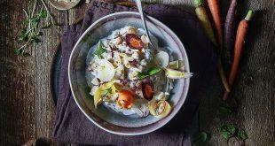 Risotto de Crozets sarrasin au St Môret® et légumes d'Antan