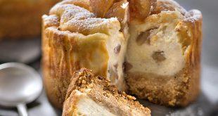 Cheesecake vanillé aux marrons glacés