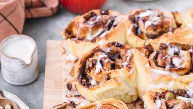 Photo de Cinnamon rolls aux pommes Pink Lady® et noix de Pécan
