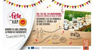 """1ère """"Fête des AOP laitières"""" françaises à Paris du 16 au 18 novembre 2018"""
