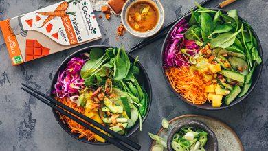 Photo de Healthy bowl à la thaï, sauce épicée à la carotte