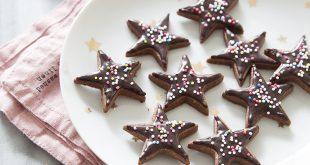 Sablés étoiles chocolat épeautre