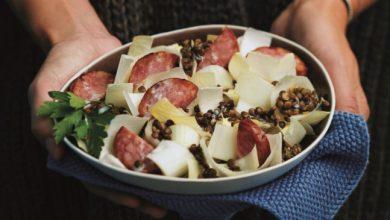 Photo de Salade de Perles tiède à la saucisse de Morteau