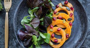 Salade mâche et bouquets rouges Florette®, grenade et butternut rôti