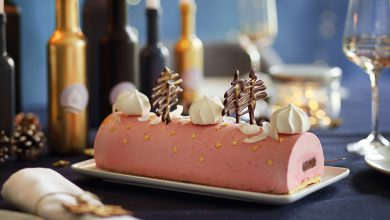 Photo de Bûche de Noël framboise et ganache chocolat