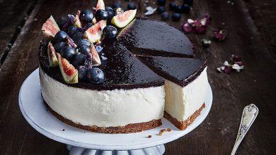 Photo de Cheesecake au St Môret® Réduit en sel, myrtilles et figues fraîches