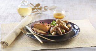 Foie gras rôti aux Ratte du Touquet