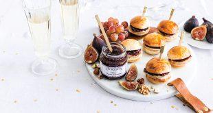 Mini-burgers au foie gras et Figue au Vinaigre Balsamique