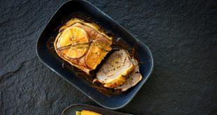 Rôti de canard à l'orange, carottes rôties