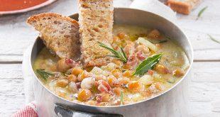 Soupe de pois chiches au Jambon de Parme