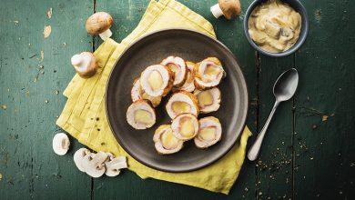 Photo de Ballotines de pintade aux champignons et à la raclette RichesMonts