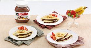 Crêpes au Nutella® et aux fruits