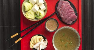 Filet de porc en fondue japonaise ou Shabu-shabu