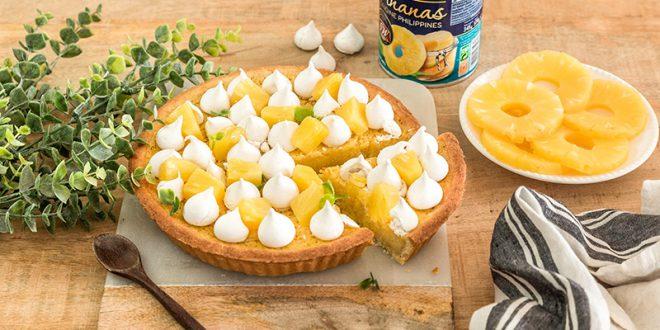 La tarte à l'ananas meringuée