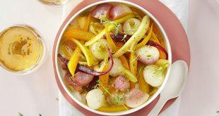 Légumes glacés au cidre