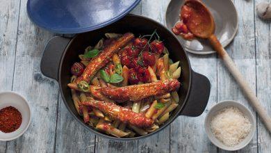 Photo de Penne aux maquereaux Arrabbiata et tomates cerises rôties