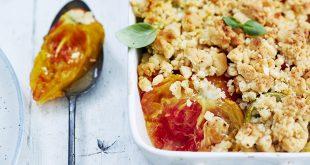 Crumble de tomates au piment d'Espelette