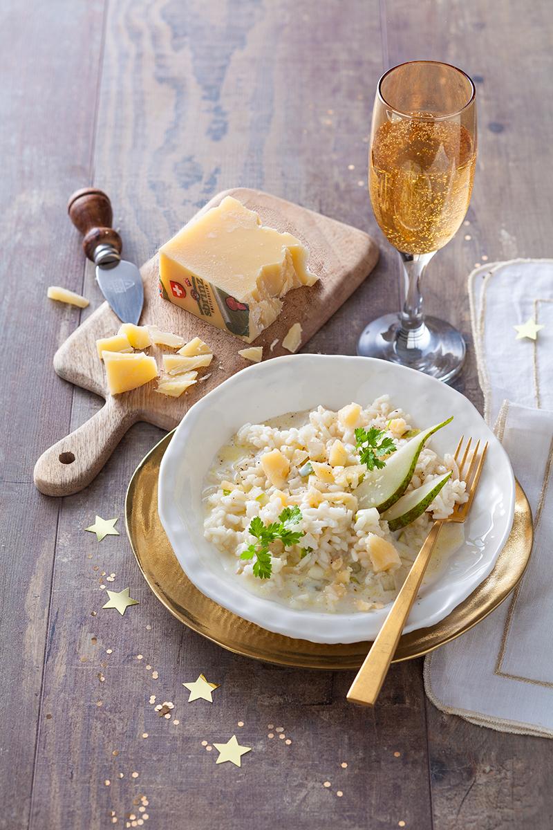 Risotto au champagne poires et au sbrinz aop a vos assiettes recettes de cuisine illustr es - Cuisine au champagne ...