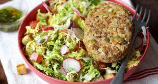 Salade frisée et pané aux céréales VeggissiMmm!
