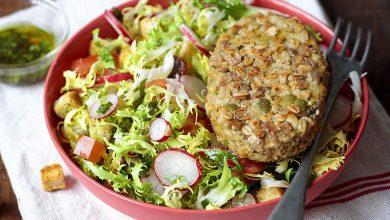 Photo de Salade frisée et pané aux céréales VeggissiMmm!