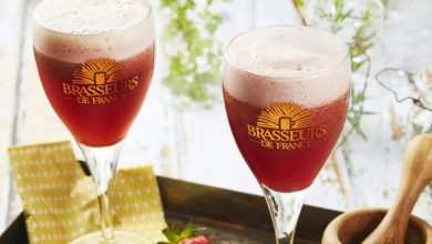 Photo de Cocktail de Bière de Printemps, fraises, poivre et basilic
