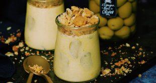 Crème de maïs et crumble d'olives Manzanilla d'Espagne