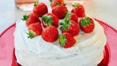 Photo de Gâteau suédois aux fraises de France
