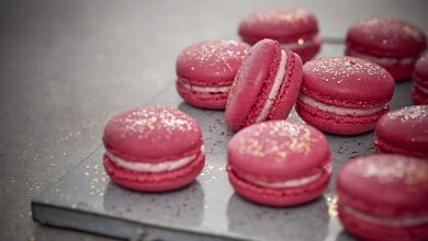 Photo de Macaron vanille et fruits rouges