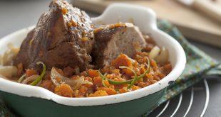 Mignon de porc rôti et compotée de carottes au citron vert