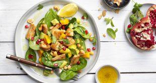 Salade exotique aux émincés nature soja Le bon Végétal® Fruit et pois chiches