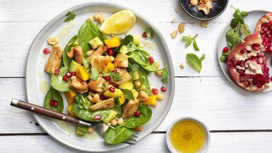 Photo de Salade exotique aux émincés nature soja Le bon Végétal® Fruit et pois chiches