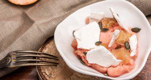 Sorbet au pamplemousse de Floride minute, meringue, gingembre