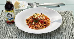 Spaghettis Ponzu avec du thon et des champignons