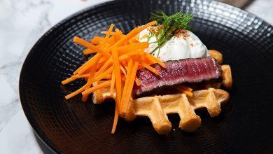 Photo de Gaufre salée bœuf et carottes