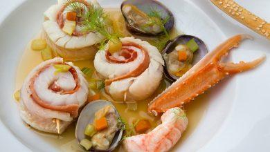 Photo de Médaillons de Merlan au bouillon de crustacés